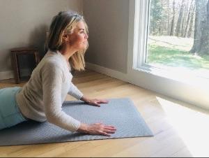Ellen on Yoga Mat